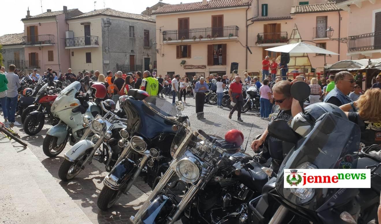 Tappa a Jenne per l'ottava edizione del motoraduno dei Neroniani di Anzio