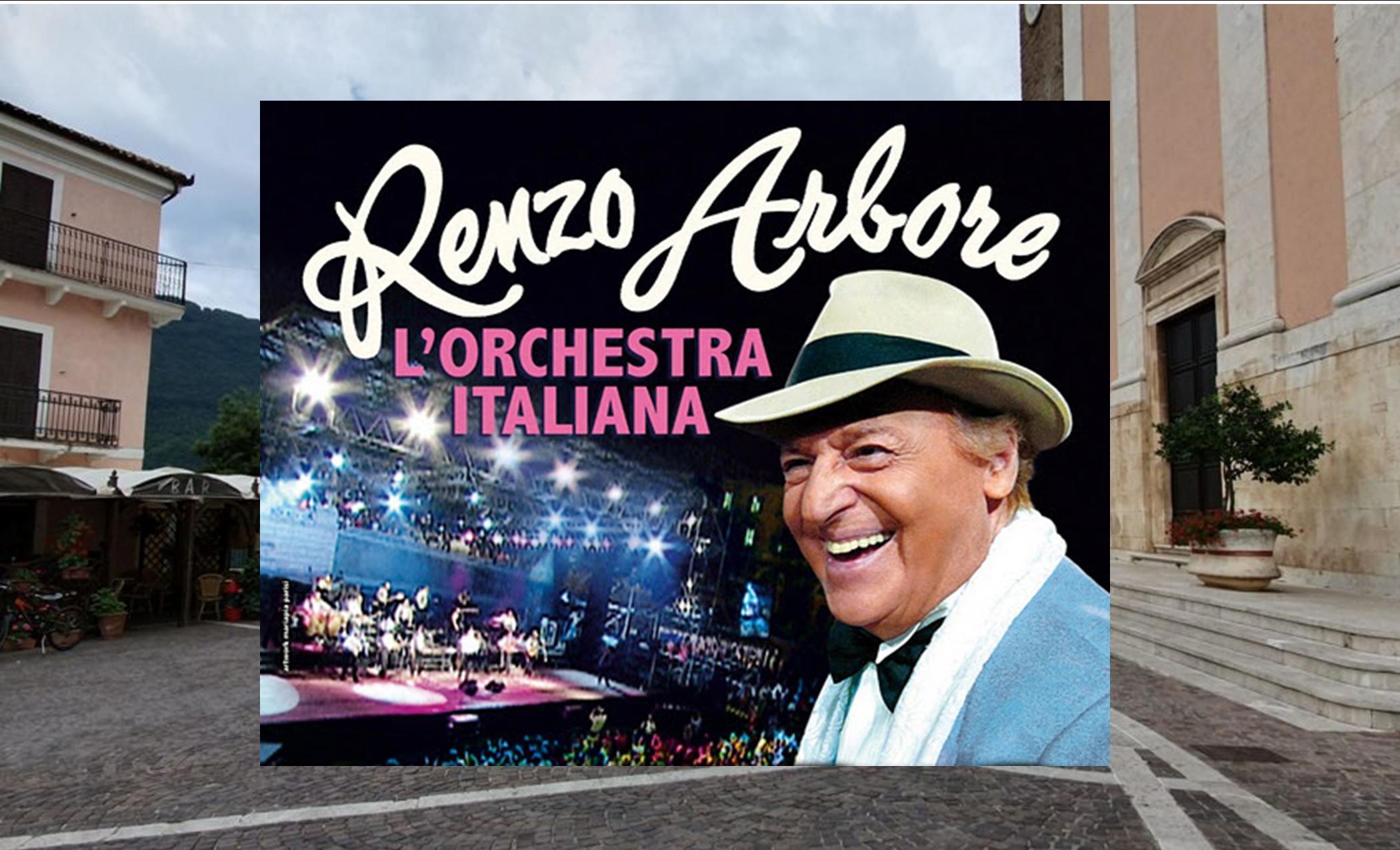 Gran concerto d'estate a Jenne con Renzo Arbore e l'orchestra italiana, il 17 agosto nella perla della Valle Aniene