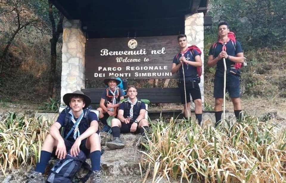 I giovani scouts d'Europa approdano al Parco dei Simbruini, sono diretti alla volta della Santa Sede