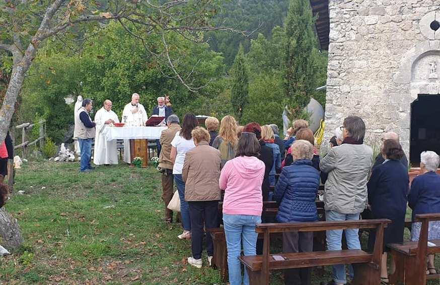 Il piccolo santuario di Jenne da Sant'Angelo a San Michele Arcangelo, celebrazioni in onore della ricorrenza ufficiale