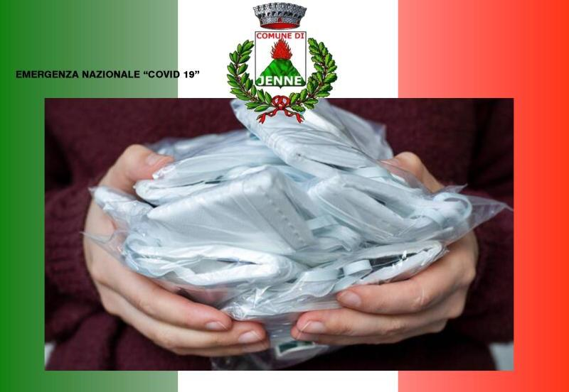 Emergenza Covid 19 – Al via a Jenne la consegna pubblica di mascherine per tutti i cittadini