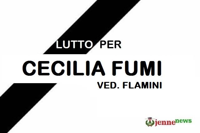 Lutto a Jenne per la scomparsa di Cecilia Fumi ved. Flamini