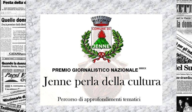 """Al via la terza edizione del premio giornalistico nazionale """"Jenne perla della cultura"""""""