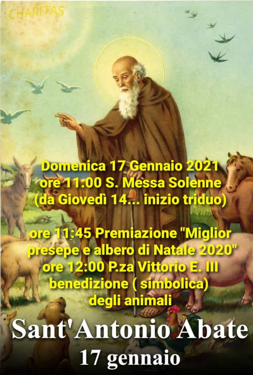 A Jenne simbolica benedizione degli animali per la festa di Sant'Antonio Abate