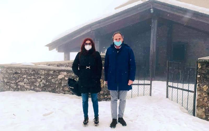 Rifugio montano a Fondi di Jenne, visita ufficiale della Regione Lazio