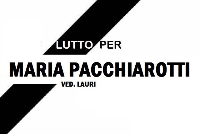 Lutto a Jenne per la scomparsa di Maria Pacchiarotti ved. Lauri