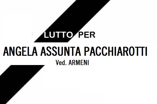 Lutto a Jenne per la scomparsa di Angela Assunta Pacchiarotti ved. Armeni