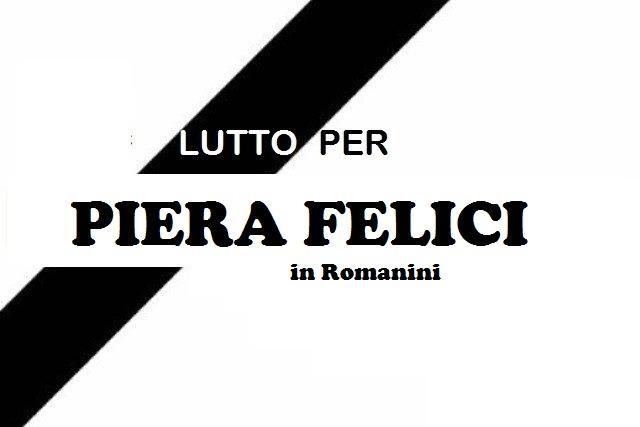 Lutto a Jenne per la scomparsa di Piera Felici in Romanini